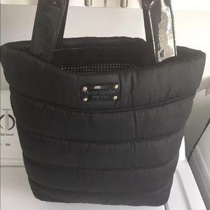 KATE SPADE Black Nylon Patent Leather Shoulder bag